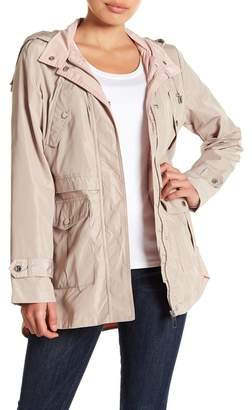 French Connection Two-Tone Peplum Waist Anorak