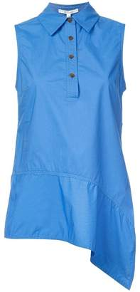 Derek Lam 10 Crosby Sleeveless Asymmetrical Top