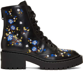 Kenzo Black Floral Pike Boots