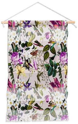 """Deny Designs Marta Barragan Camarasa Bouquets And Hummingbirds Wall Hanging Portrait, 11""""x16"""""""