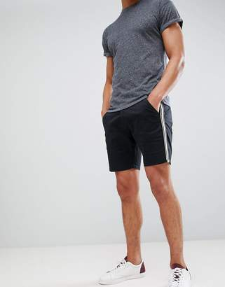 Brave Soul fitted shorts with tapping