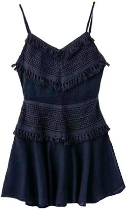 Goodnight Macaroon 'Amara' Embroidered Tassel Mini Dress (4 Colors)