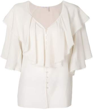 Chloé ruffled shoulder blouse
