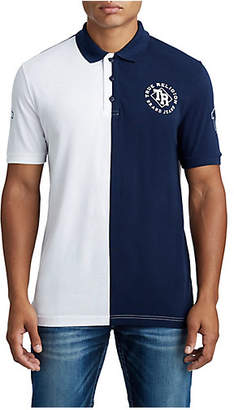 True Religion MENS SPLIT VARSITY POLO SHIRT