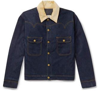 Holiday Boileau Corduroy-Trimmed Denim Jacket - Men - Blue