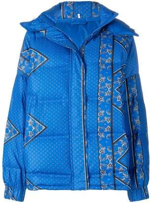 Ganni padded paisley print jacket