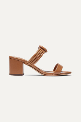 Alexandre Birman Vicky Knotted Leather Mules - Light brown