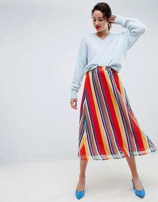 Gestuz rainbow long skirt