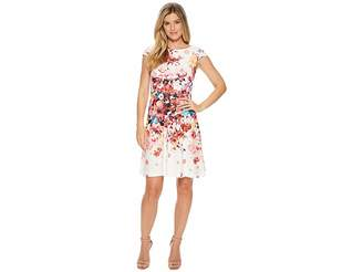 Adrianna Papell Spring In Bloom Printed Fit Flare Women's Dress