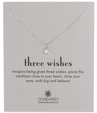 Dogeared Sterling Silver Three Wishes Star Bead Necklace