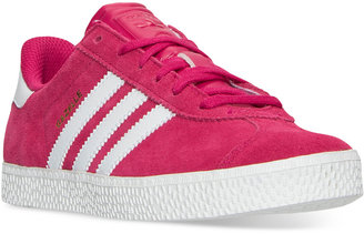 adidas Girls' Gazelle 2 Casual Sneakers from Finish Line $64.99 thestylecure.com