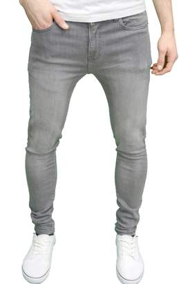 Enzo Mens Designer Super Stretch Skinny Fit Jeans