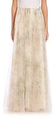 Jenny Yoo Women's Arabella Printed Tulle Maxi Skirt