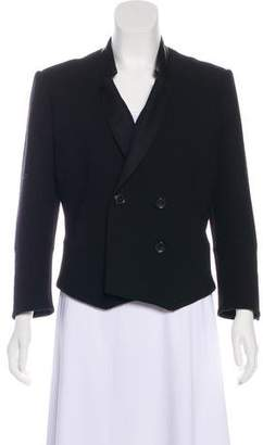 Maiyet Wool-Blend Leather-Accented Blazer