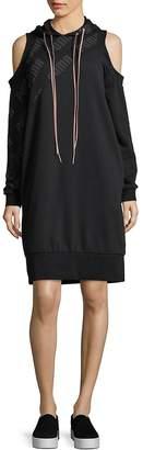 Puma Women's Cold-Shoulder Sweatshirt Dress