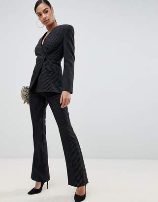 Asos Design DESIGN slim suit pants in pinstripe