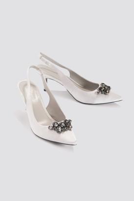 Na Kd Shoes Dark Embellished Kitten Heel Pumps Black