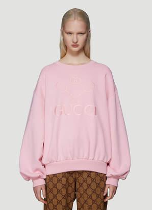 Gucci Tennis Logo Sweatshirt in Pink