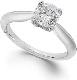 Marchesa Classic by Certified Diamond Solitaire Engagement Ring in 18k White Gold (1 ct. t.w.), Created for Macy's