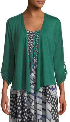 Nic+Zoe Take Comfort Tab-Sleeve Four-Way Cardigan, Petite