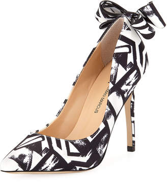 Neiman Marcus Verity Printed Bow Pumps
