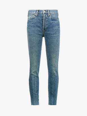 RE/DONE Originals High-Rise Ankle Cropped Jeans