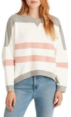 Ella Moss Samantha Boxy Cropped Cotton Pullover
