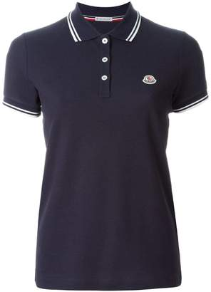 Moncler piped collar polo shirt
