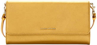 Dooney & Bourke Metallic Leather Crossbody Clutch