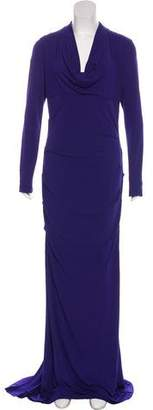 Nicole Miller Ruched Long Sleeve Evening Dress w/ Tags