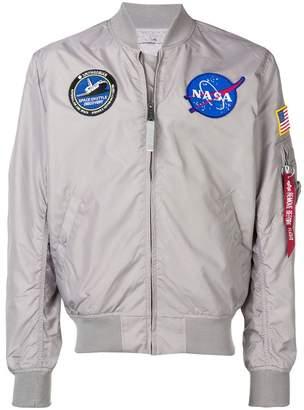 Alpha Industries patchwork bomber jacket