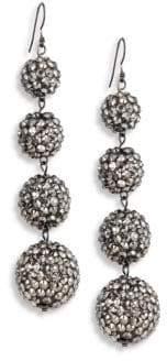 Kenneth Jay Lane Four-Ball Hematite Drop Earrings