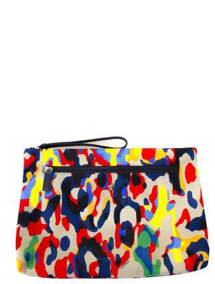 Versace Multicoloured Nylon Clutch