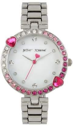 Betsey Johnson Women's Crystal Embellished Bracelet Watch