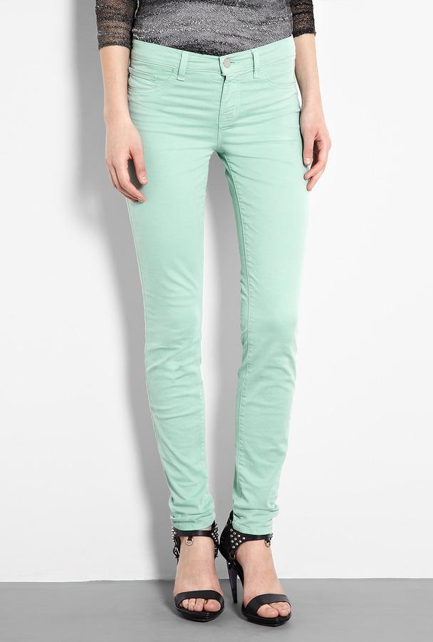 J Brand Denim Juniper Green Mid-rise Skinny Jeans