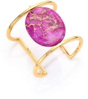 Nest Purple Jasper Cabochan Cuff Bracelet