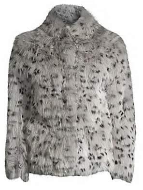 Adrienne Landau Women's Animal-Print Fox Fur Jacket