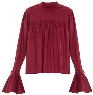 Framed ruffled blouse