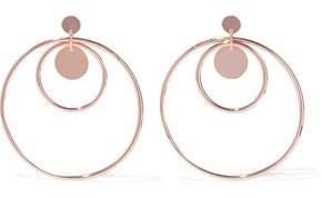 Luv Aj Disco Fever Rose Gold-Plated Hoop Earrings