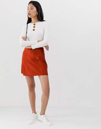 Asos Design DESIGN bias cut mini skirt