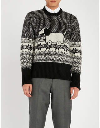 Thom Browne Hector Toy Icon wool and mohair-blend jumper