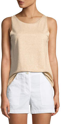 Theory Insar Linen-Blend Stripe Tank
