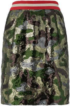 Bazar Deluxe sequin camouflage mini skirt