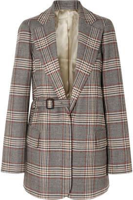Joseph Gemina Checked Wool Blazer - Gray