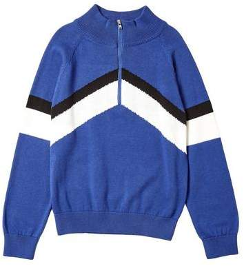 Burton Mens **Boys Blue Chevron Knitted Jumper (5 - 12 years)