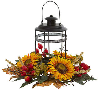 Nearly Natural Sunflower Berry Artificial Arrangement Candelabrum