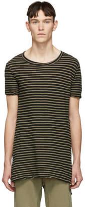 Ksubi Biege Sinister Stripe T-Shirt