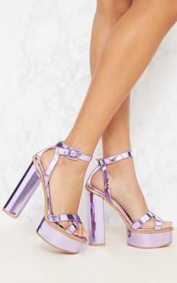 PrettyLittleThing Silver High Platform Sandal