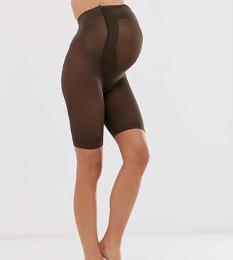 Asos DESIGN Maternity anti-chafing shorts in umber