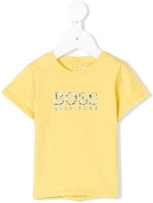 Boss Kids logo printed T-shirt